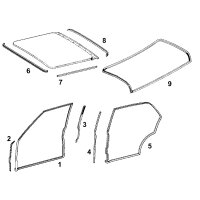 Set of door seals W108