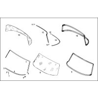 Rubber seal front windshield 1156700039 oem
