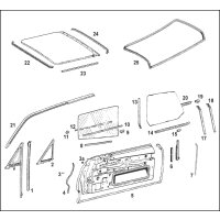 set of door seals W114 Coupe
