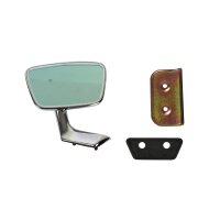 Rear view mirror right with mounting parts